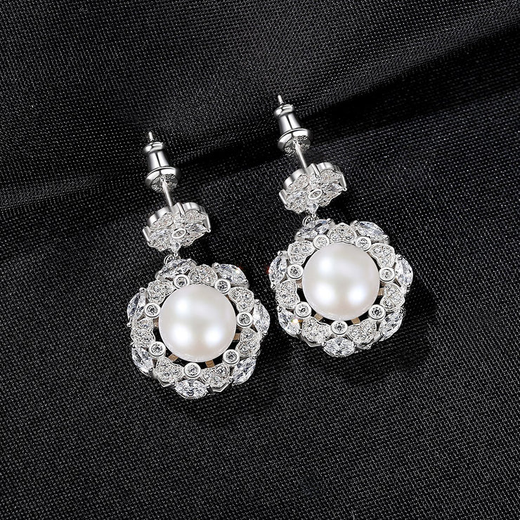 'Emanuella' Pearl Earrings - Sterling Silver