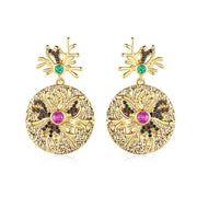 'Brunilde' Earrings - 18K Gold Finish