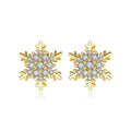 'Diocco di Neve' Earrings - 18K Gold Finish