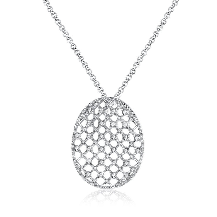 'Ignazina' Necklace - 18K White Gold Finish