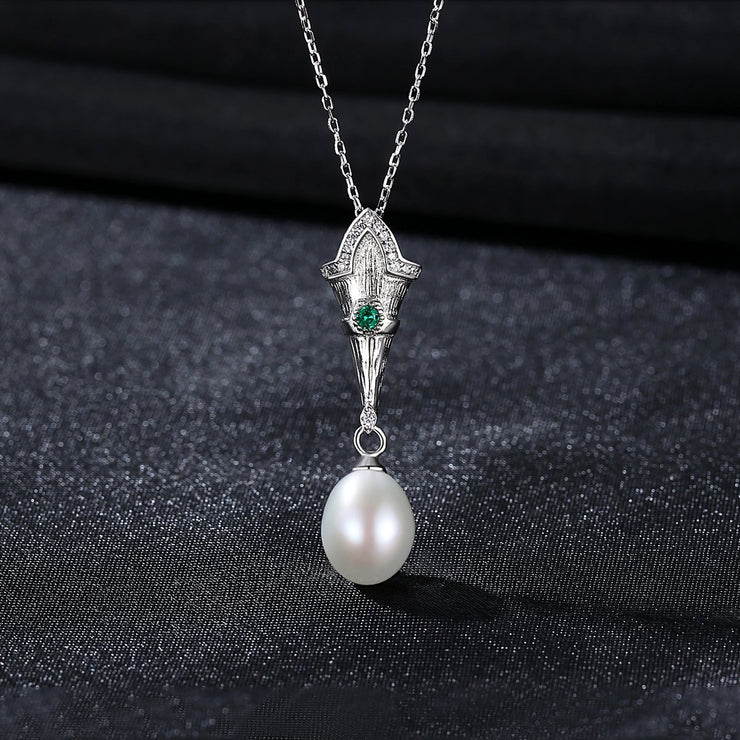 'Rebecca' Pearl Necklace - 18K Gold & Sterling Silver