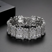 'Cleta' Bracelet - 18K White Gold Finish