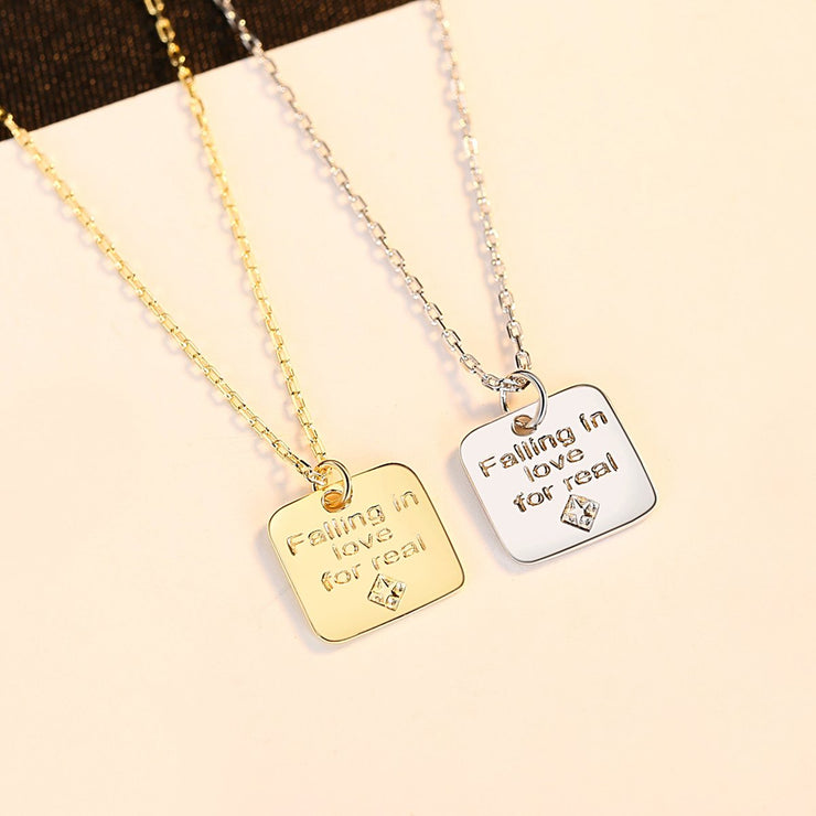 'Falling in Love for Real' Necklace - 18K Gold & Sterling Silver