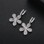 'Vincenzella' Earrings - 18K Black/White Gold Finish