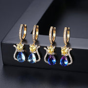 'Gattina' Kitten Earrings - 18K Gold Finish