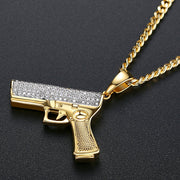 'BEATRICE LN' Gun 1ct Necklace - 18K Gold Finish