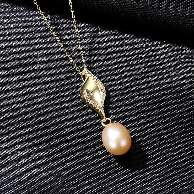 'Gigliante' Pearl Necklace - 18K Gold & Sterling Silver