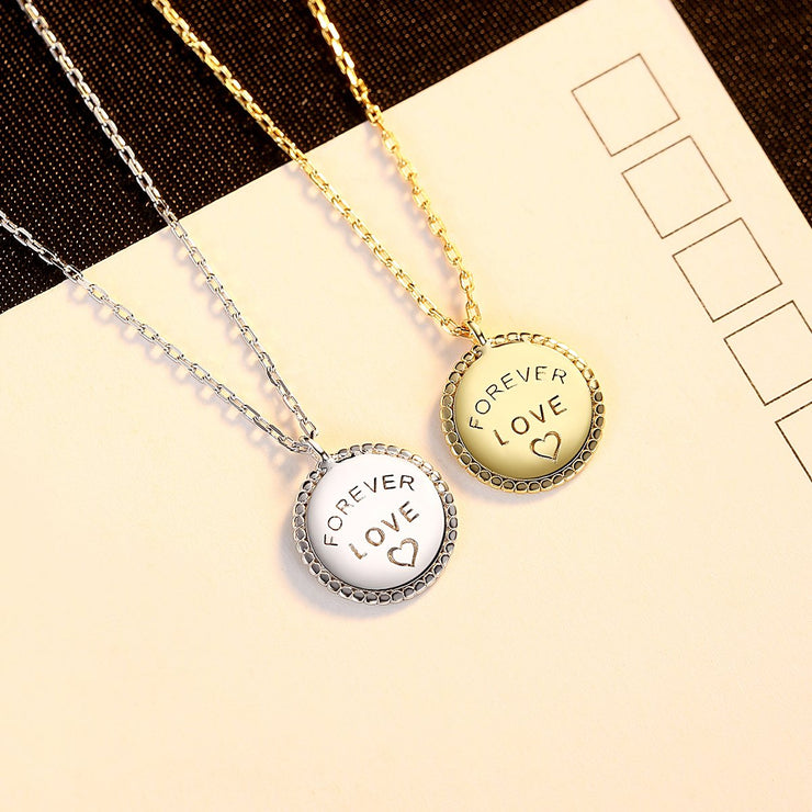 'Forever Love' Necklace - 18K Gold Sterling Silver