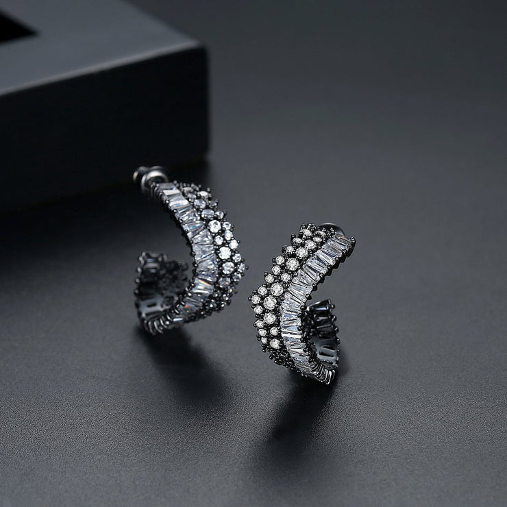 'Filodea' Earrings - 18K White Gold Finish
