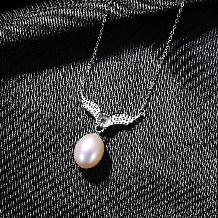 'Fortezza' Pearl Necklace - 18K Gold & Sterling Silver