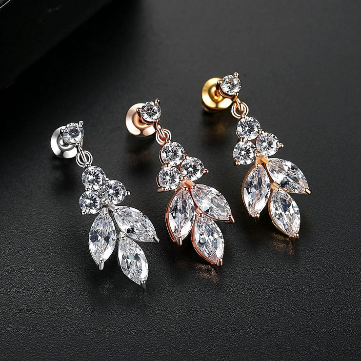 'Decia' 3ct Earrings - 18K Gold Finish