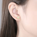 'Laodice' Earrings - 18K Gold & Sterling Silver