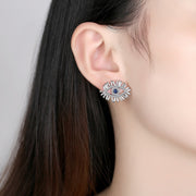 'Nuccia' Earrings - 18K White Gold Finish