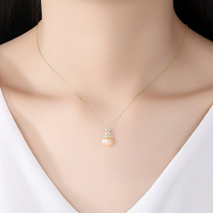 'Comasia' Pearl Necklace - 18K Gold & Sterling Silver