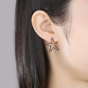 'Faldina' Earrings - 18K Rose Gold Finish