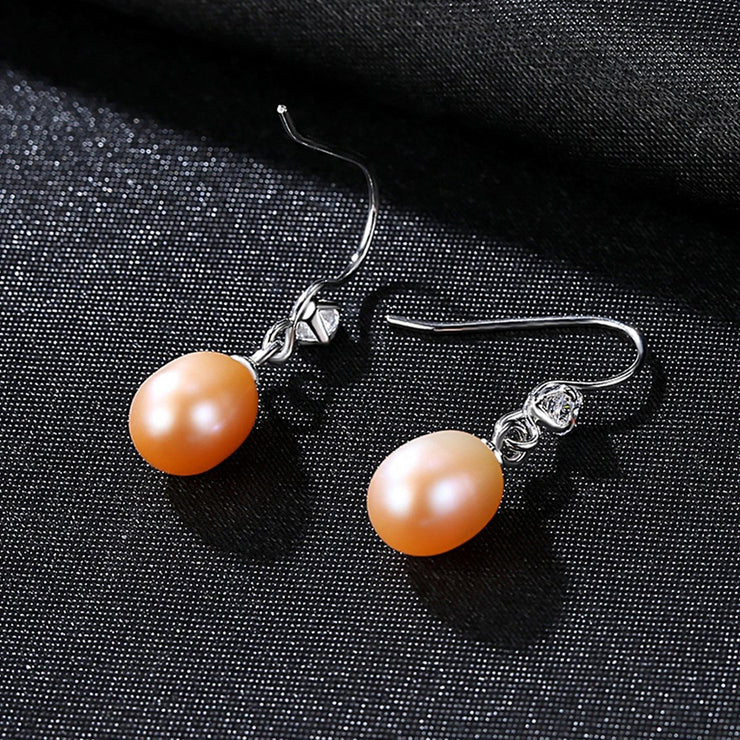 'Maurilia' Pearl Earrings - Sterling Silver
