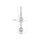 'Eda' Earrings - 18K White Gold Finish