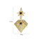 'Fruttuosa' Earrings - 18K Gold Finish