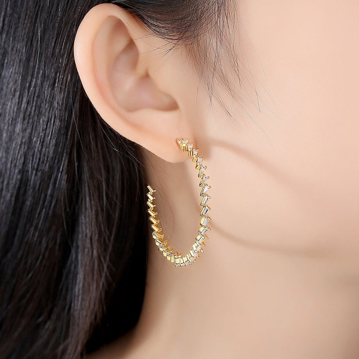 'Fedela' Earrings - 18K Gold Finish