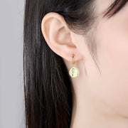 'Vilelma' Earrings - 18K Gold & Sterling Silver