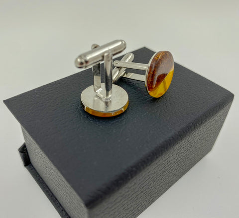 Natural Baltic Amber Cufflinks