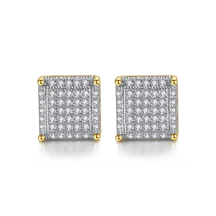 'LINCOLN CT' 2ct Earrings - 18K Gold Finish