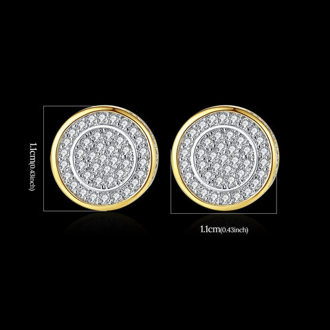 'LE CONTE AVE' 1.2 ct Earrings - 18K Gold Finish