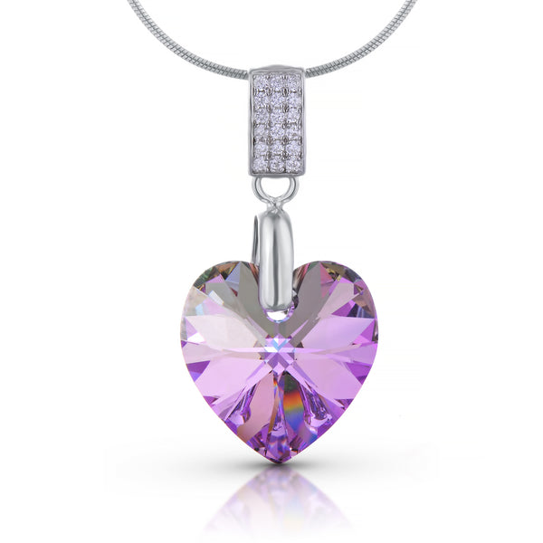 'Eternità' Heart Pendant Necklace - With Swarovski® Crystals - 925 Sterling Silver