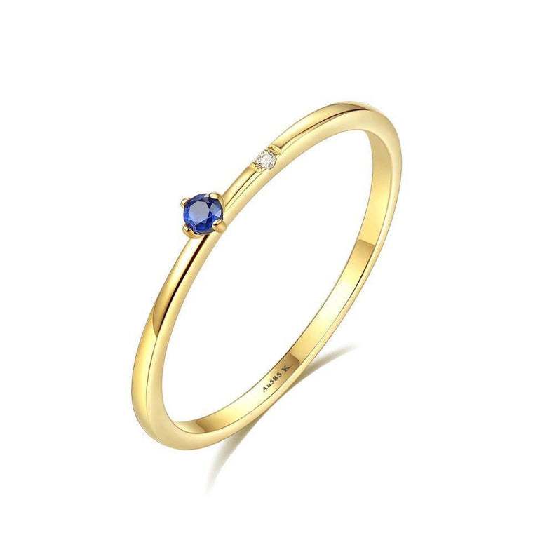 14K gold Jewelry Gemstone Rings for Women