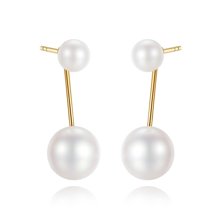 18K gold Natural pearl earrings fine jewellery