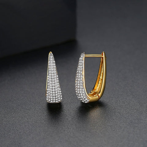 wholesale and dropshipping 18K Gold Plated Hoops Huggie Earrings 2019 for Women Accessories Earing Fashion Jewelry