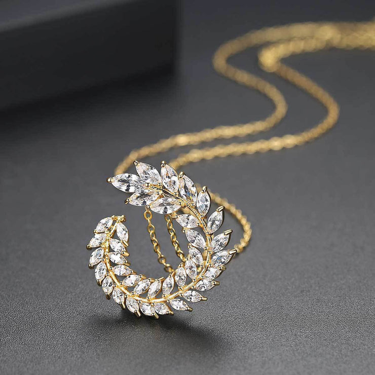 Gift for women gift for girl birthday present men girlfirend wife daughter18K Gold Plated Jewelry Cubic Zirconia Necklace Women