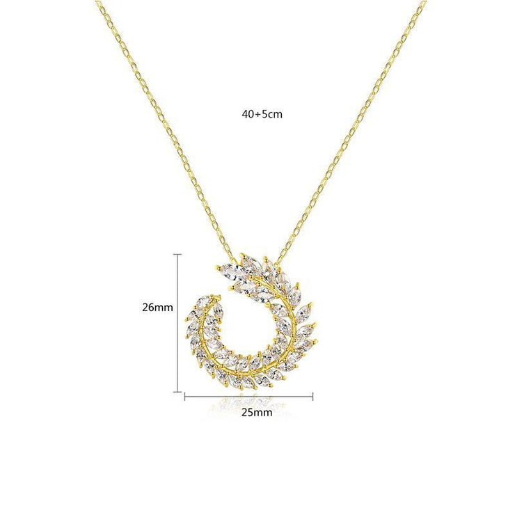 18K Gold Finish Jewelry Cubic Zirconia Necklace