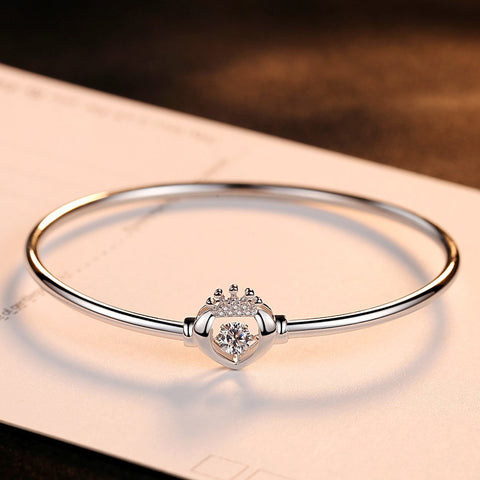 Gift for women gift for girl birthday present men girlfirend wife daughter925 Sterling Silver Bangles Jewelry for Women