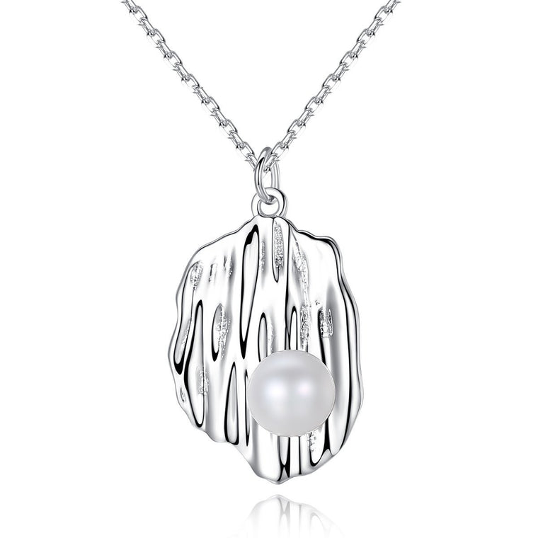 925 Sterling Silver Chain Necklace Women Freshwater Pearl Pendants