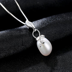 Gift for women gift for girl birthday present men girlfirend wife daughter925 Sterling Silver Chain Necklace Women Freshwater Pearl Pendants