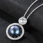 Gift for women gift for girl birthday present men girlfirend wife daughter925 Sterling Silver Chains Necklace Women Freshwater Pearl Pendants