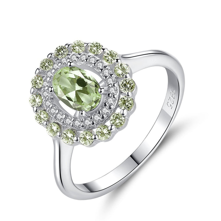 925 Sterling Silver Peridot Ring Jewelry