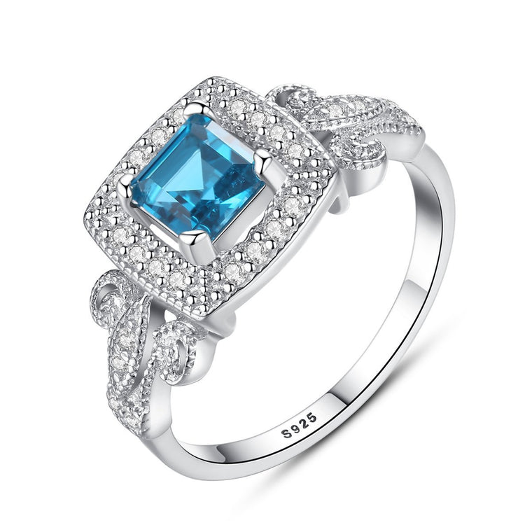 925 Sterling Silver Jewellery Sapphire Ring for Women