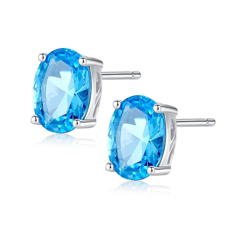 925 Sterling Silver Jewelry Gemstone Earrings for Women