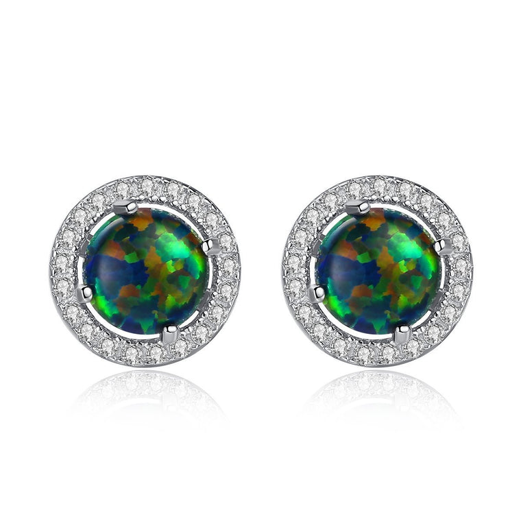925 Sterling Silver Mystic Topaz Earrings for Women