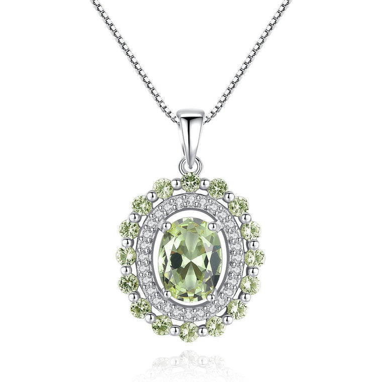 925 Sterling Silver Necklace Jewelry Gemstone Pendants