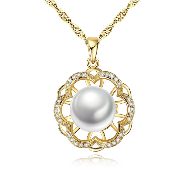 925 Sterling Silver Necklace Women Freshwater Pearl Pendants