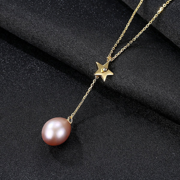 Gift for women gift for girl birthday present men girlfirend wife daughter925 Sterling Silver Necklace Women Freshwater Pearl Pendants
