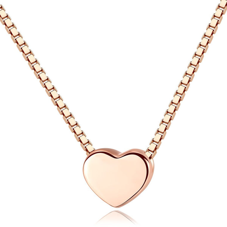 925 Sterling Silver Heart Pendant Necklace