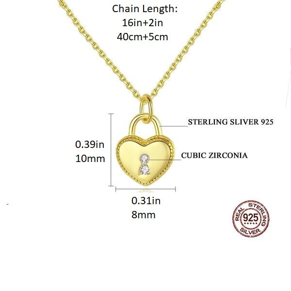 Heart of Love - 0.25 ct Tiny Pendant Pendant Necklace - Silver/Gold