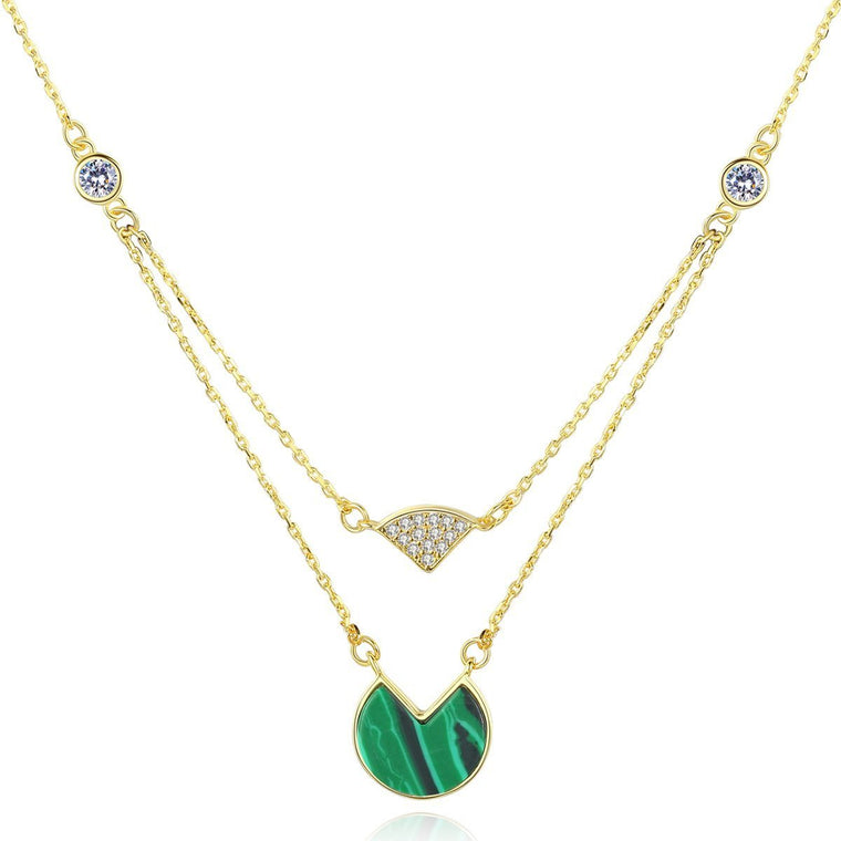 925 Sterling Silver Malachite Pendant Necklace