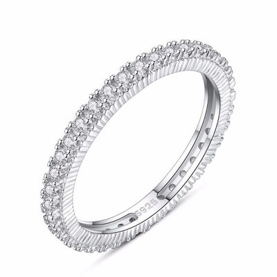 Gift for women gift for girl birthday present men girlfirend wife daughter925 Sterling Silver Zircon Diamond Ring Jewelry for Women