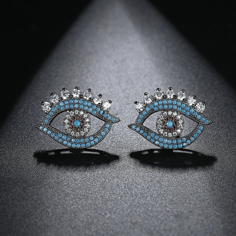 Bohemian Earring Earings Fashion Indian Jewelry Studs Evil Eye Earrings for Women