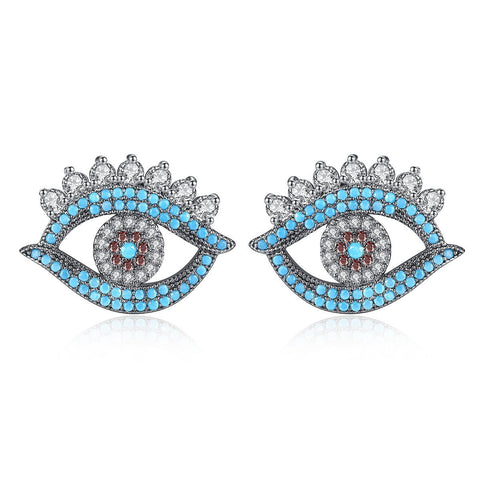wholesale and dropshipping Bohemian Earring Earings Fashion Indian Jewelry Studs Evil Eye Earrings for Women